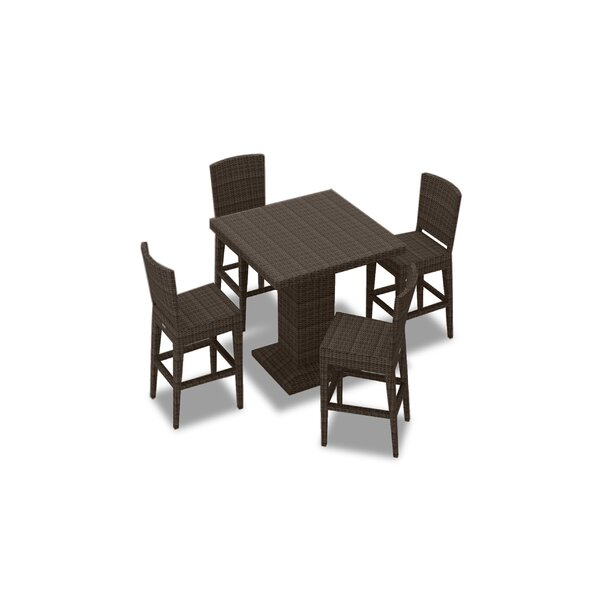 Hodge 5 Piece Bar Height Dining Set by Rosecliff Heights
