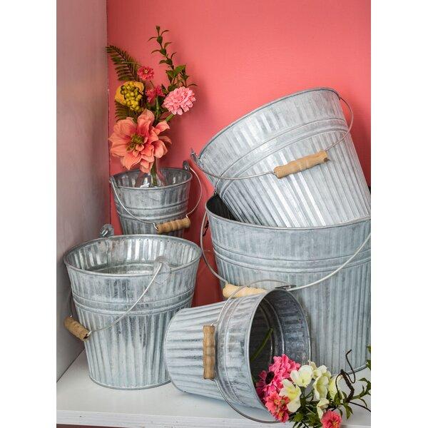 Llanos Pail Metal 5 Piece Pot Planter Set by Gracie Oaks
