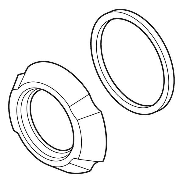 Addison Handle Flange and Gasket by Delta