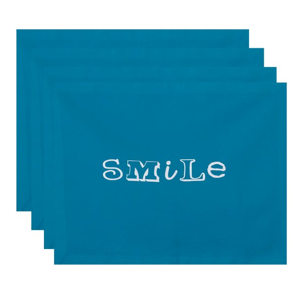 Whalers Smile Print Placemat (Set of 4) by Red Barrel Studio