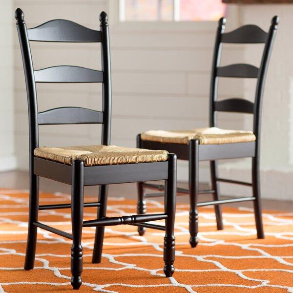 Shirk Ladder Back Solid Wood Ladder Back Side Chair (Set Of 2) By Winston Porter
