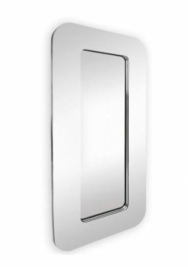 Stylish Unique Shaped Modern Brown Framed Wall Mirror by Majestic Mirror