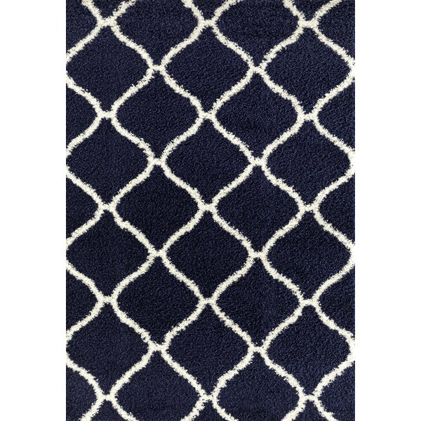 Strothers Shag Navy Area Rug by Charlton Home