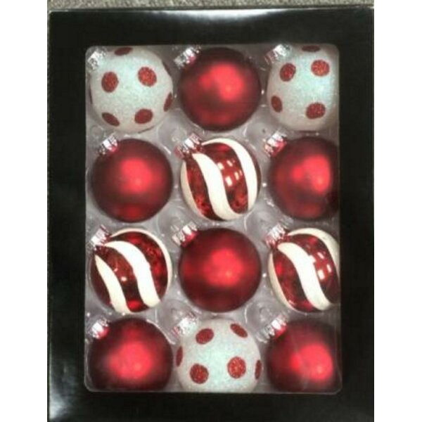 Glass Christmas Ball Ornament (Set of 12) by The Holiday Aisle