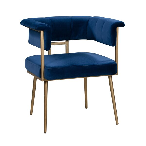 Woodrow Velvet Upholstered Dining Chair by Mercer41
