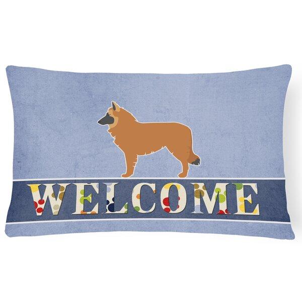 Edmonson Belgian Shepherd Welcome Lumbar Pillow by Red Barrel Studio