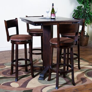 Fresno 5 Piece Solid Wood Pub Table Set By Loon Peak