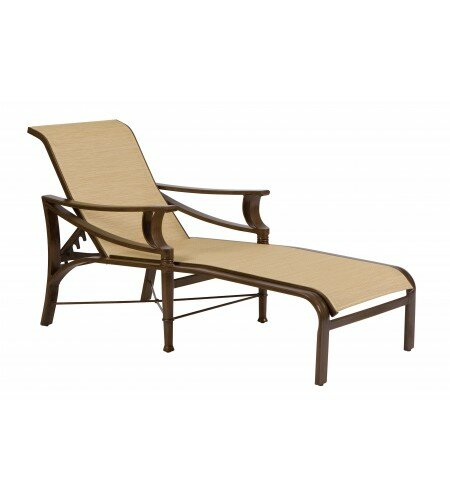 Arkadia Sling Reclining Chaise Lounge by Woodard