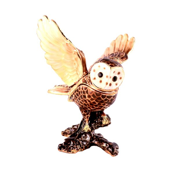 Flying Owl Jewelry Box by Millwood Pines