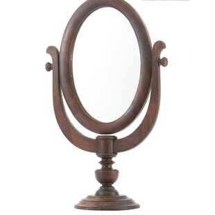 Compare Oval Wood Shaving Mirror By Darby Home Co