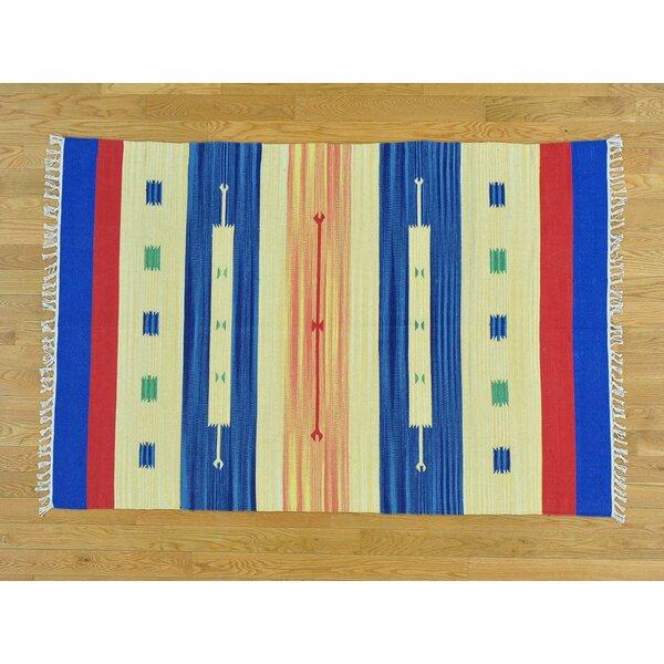 One-of-a-Kind Bigler Killim Design Handwoven Wool Area Rug by Isabelline