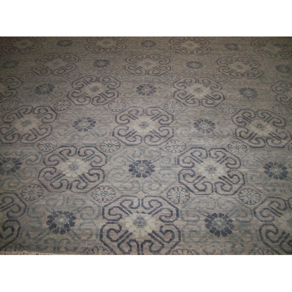 One-of-a-Kind Craney Hand-Woven Wool Gray Area Rug by Bloomsbury Market
