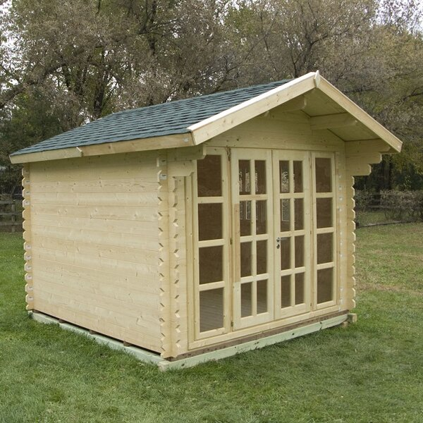 Brightoln 10 ft. W x 10 ft. D Solid Wood Storage Shed by SolidBuild