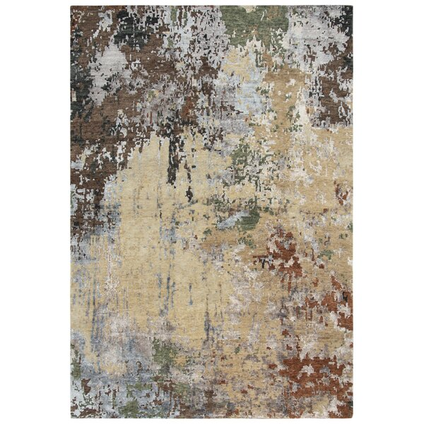 Cabell Hand Knotted Wool Beig/Brown Rug
