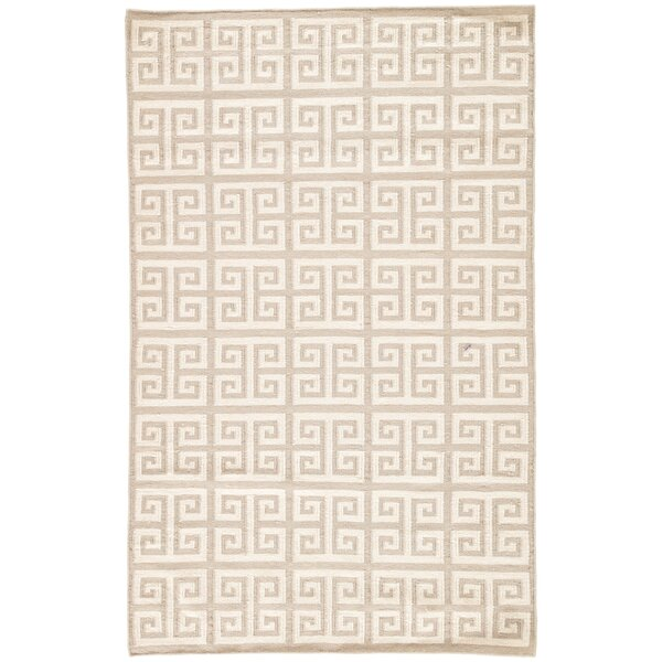 Ginger Inky Sea Geometric Area Rug by Mercer41