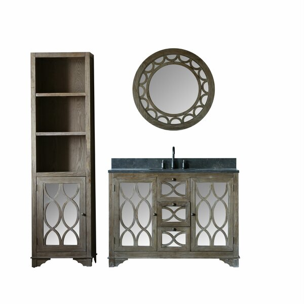 Medeiros Solid Elm 48 Single Bathroom Vanity Set with Mirror by Rosecliff Heights
