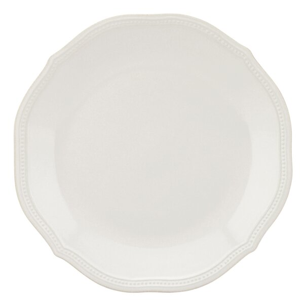 French Perle Bead 10.75 Dinner Plate by Lenox