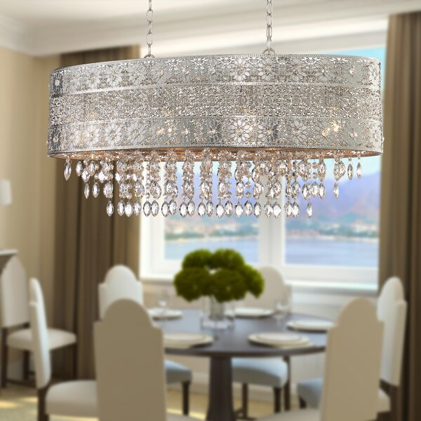 Prindle 4 - Light Statement Drum Chandelier by House of Hampton House of Hampton