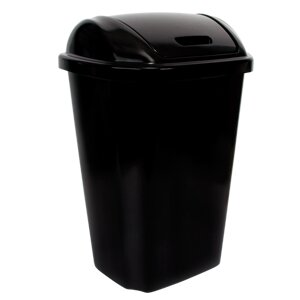 Plastic 13.5 Gallon Swing Top Trash Can (Set of 4) by Hefty