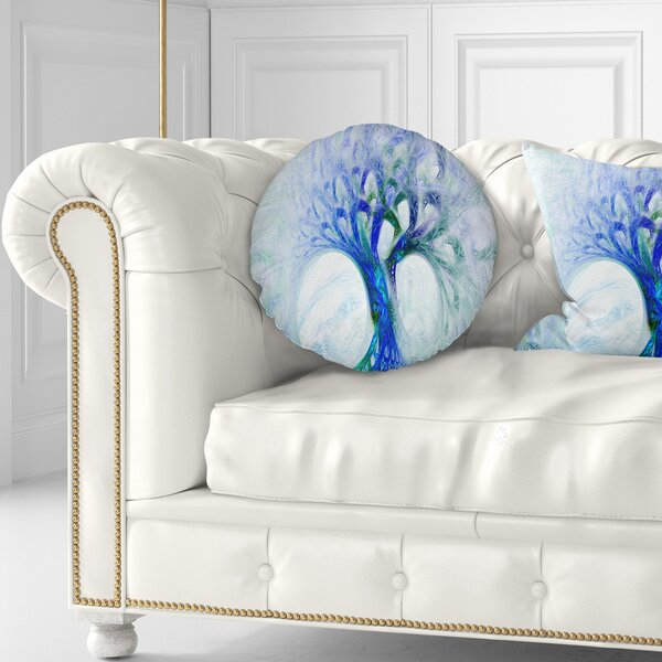 Abstract Mystic Psychedelic Tree Throw Pillow by East Urban Home
