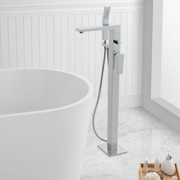 Augusta Single Handle Floor Mount Freestanding Tub Filler by Maykke