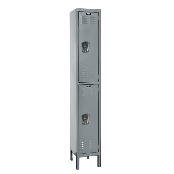 Premium 2 Tier 1 Wide School Locker by Hallowell