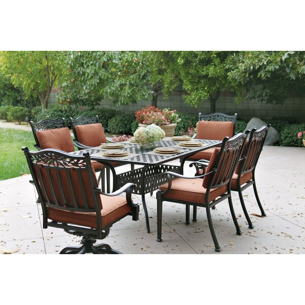 Fairmont 7 Piece Dining Set with Cushions by Astoria Grand