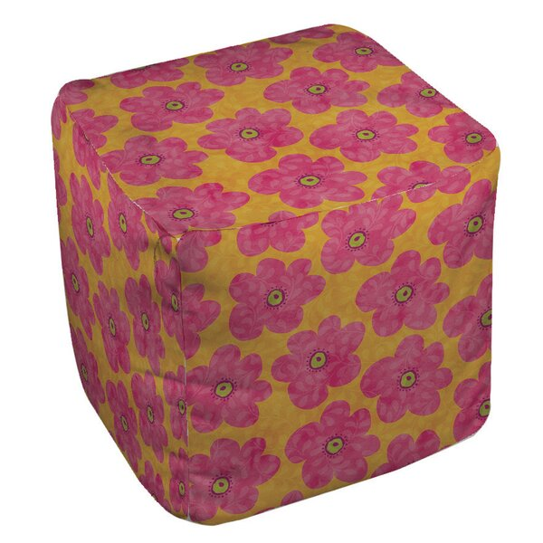 Emily's Ditsy Garden Pouf by Manual Woodworkers & Weavers