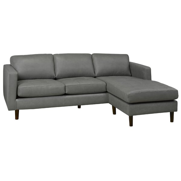 Boettcher Right Hand Facing Leather Sectional By Corrigan Studio