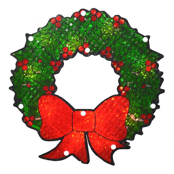 Lighted Holographic Berry Wreath Christmas by The Holiday Aisle