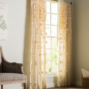 clarkstown solid sheer rod pocket single curtain panel
