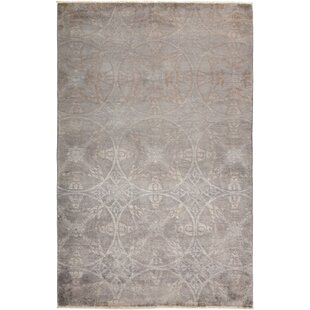Read Reviews One-of-a-Kind Stewart Hand Knotted Gray Area Rug By Isabelline