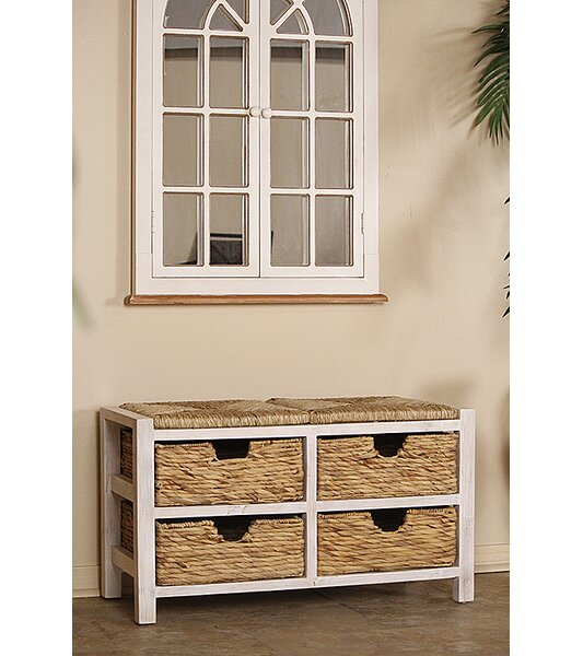 Arias Wood Storage Bench by Bay Isle Home