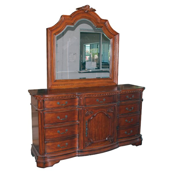 Gardin 9 Drawer Combo Dresser with Mirror by Astoria Grand
