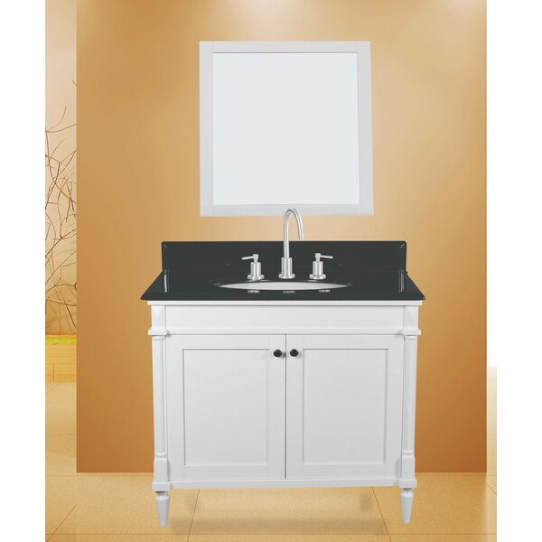Barcelona 36 Single Bathroom Vanity with Mirror by NGY Stone & Cabinet