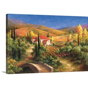 Tuscan Bridge by Art Fronckowiak Painting Print on Wrapped Canvas by Great Big Canvas