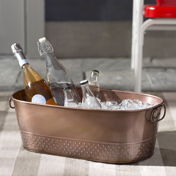 Bergenfield Copper Beverage Tub by Mercury Row