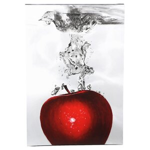 Red Apple Splash by Roderick Stevens Photographic Print on Wrapped Canvas by Trademark Fine Art