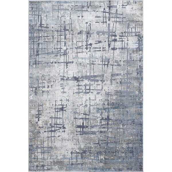 Meador Gray/Blue Area Rug by Williston Forge