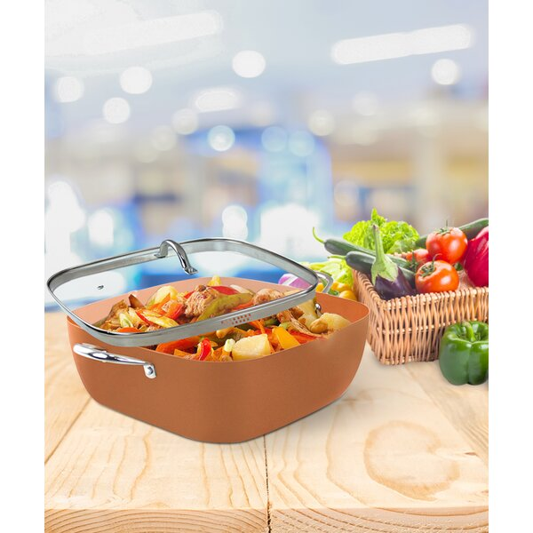 Induction Based Non-Stick Stock Pot with Lid by Volar Ideas