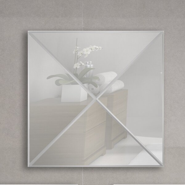 3D Triangle Style One Wall Mirror by Majestic Mirror