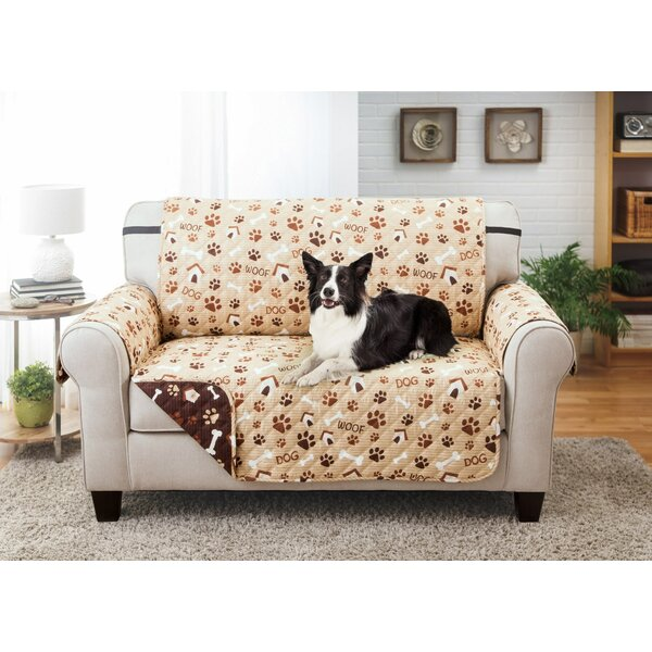 Printed T-Cushion Loveseat Slipcover by Winston Porter