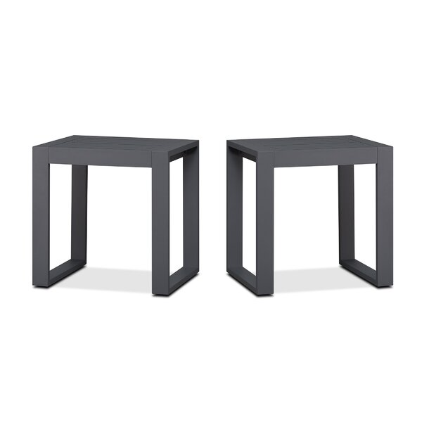 Baltic Aluminum Side Table (Set of 2) by Real Flame