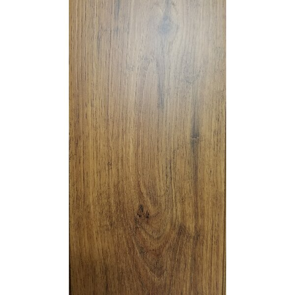 4.86 x 47.24 x 10mm Oak Laminate Flooring in Brown by Abolos