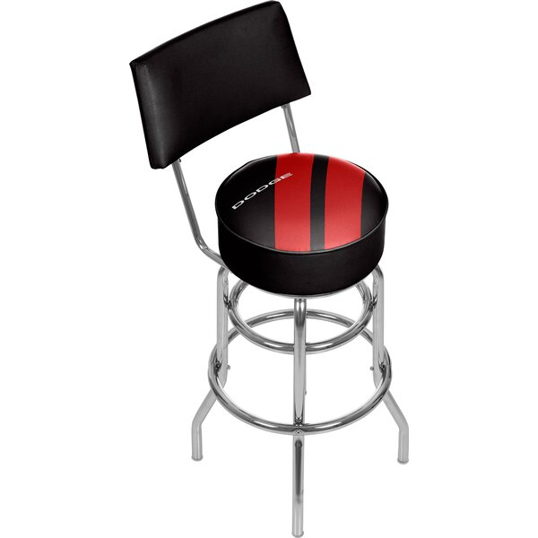 Dodge Big Stripe 31 Swivel Bar Stool by Trademark Global