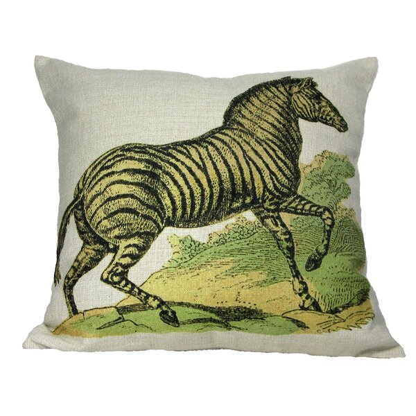Zebra Pillow Cover by Golden Hill Studio