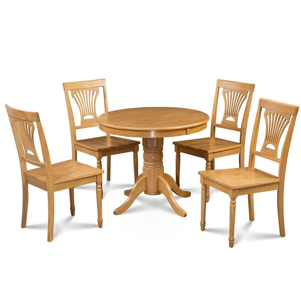 Cedarville 5 Piece Solid Wood Dining Set by Alcott Hill Alcott Hill