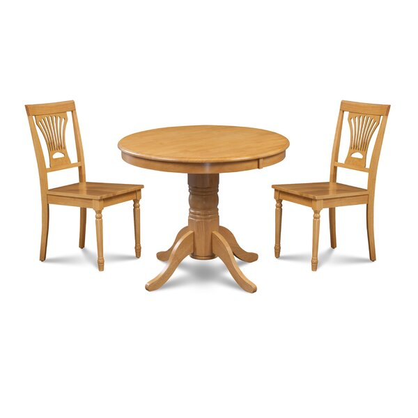 Amazing Almaraz 3 Piece Breakfast Nook Dining Set By Charlton Home Great Reviews