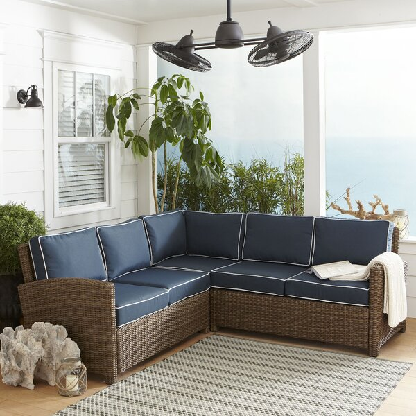 Lawson Patio Sectional with Cushions by Birch Lane Heritage Birch Lane™ Heritage