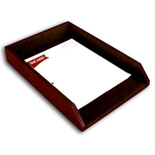 1000 Series Classic Leather Front-Load Legal Tray in Mocha by Dacasso